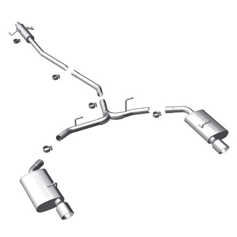 Magnaflow Stainless Steel Cat-Back Exhaust - Dual Split Rear Exit 15552 MA15552