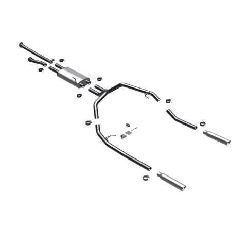 Magnaflow Stainless Steel Cat-Back Exhaust - Dual Split Rear Exit 16487 MA16487