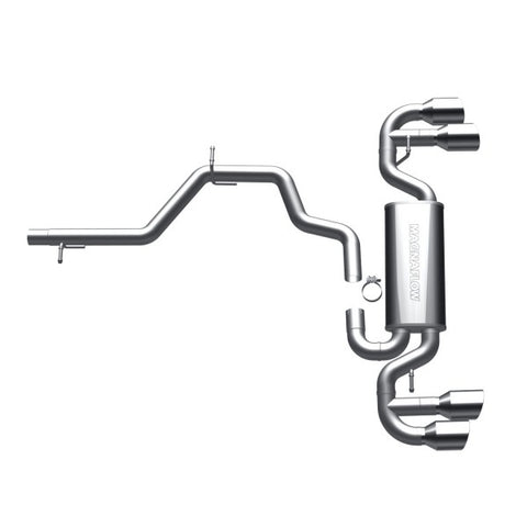Magnaflow Stainless Steel Cat-Back Exhaust - Quad Split Rear Exit 16491 MA16491