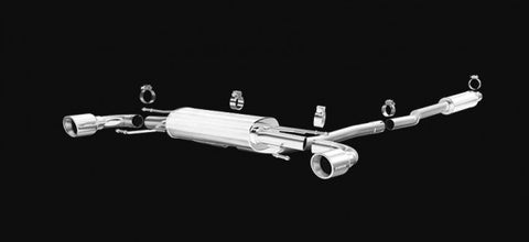 2014-2018 Mazda 3 Exhaust - Hatchback (2.25in Cat Back w/ 4in Dual Polished Tips) [2.0L / 2.5L] - Magnaflow 15297
