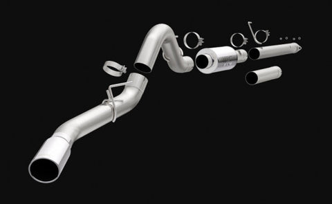 2015-2018 Ford F150 Exhaust - (4in Single Cat Back w/ 5in Polished Tip) [2.7L/3.5L] - Magnaflow 19335