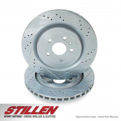 STILLEN Rear Cross Drilled & Slotted 1-Piece Sport Rotors NIS1551XS