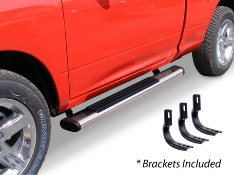 "Go Rhino 6"" OE Xtreme Stainless - Complete Kit: SideSteps + Brackets 686404552PS"