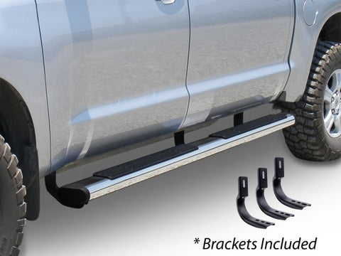 "Go Rhino 6"" OE Xtreme Stainless - Complete Kit: SideSteps + Brackets 686409987PS"