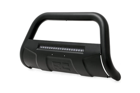 2005-2018 Nissan Frontier Bull Bar - 2WD/4WD [w/ Integrated LED Light-bar] (Black Series) - Rough Country B-N4150