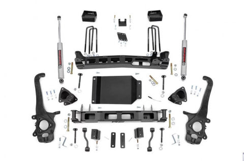 2004-2015 Nissan Titan Lift Kit - 2WD/4WD (N3 Shocks) [4in] - Rough Country 874.20