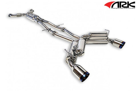 ARK Nissan 370Z Grip Exhaust System w/ Burnt Tips SM0901-0209G
