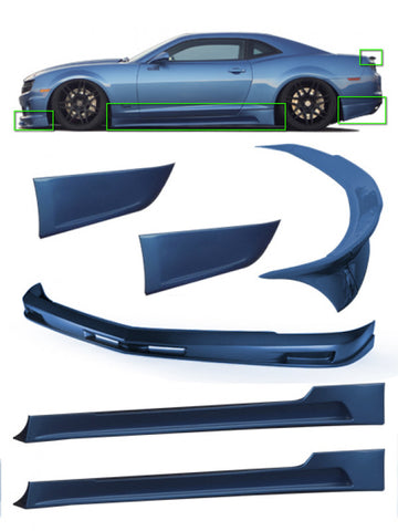 2010-2013 Chevy Camaro SS 6-Piece Body Kit with Front Lip Spoiler | STILLEN KB51000KT