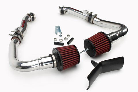 2009-2013 Infiniti G37 Dual Ultra Long Tube Air Intake Kit (Gen 3) [V36] - Dry Filter - 402847DF