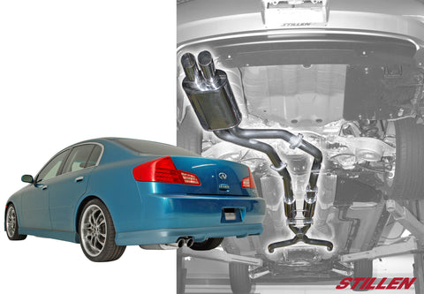 2003-2006 Infiniti G35 Sedan [Gen 2] Stainless Steel Cat-Back Exhaust System - 504370