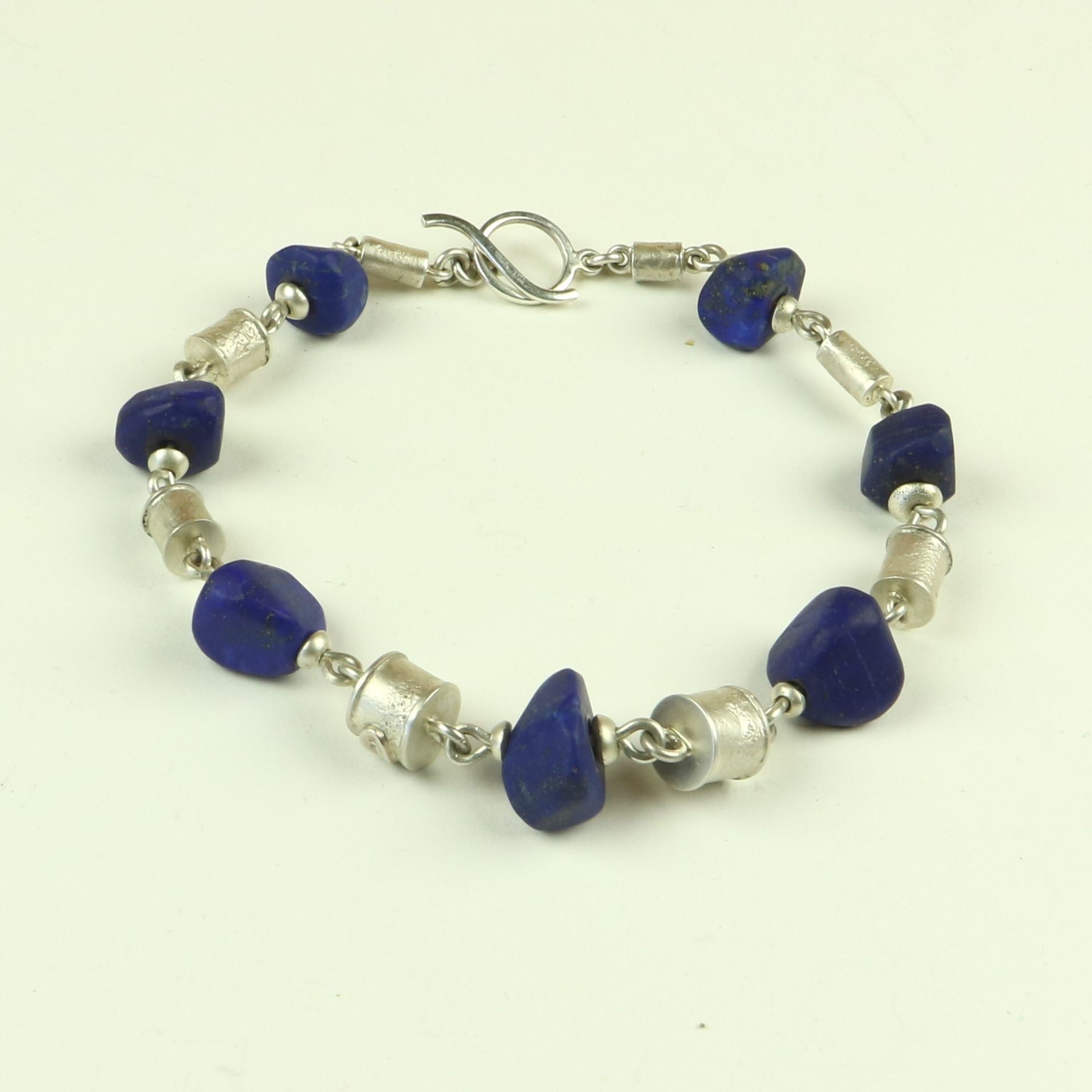 Lapis and Silver Bracelet