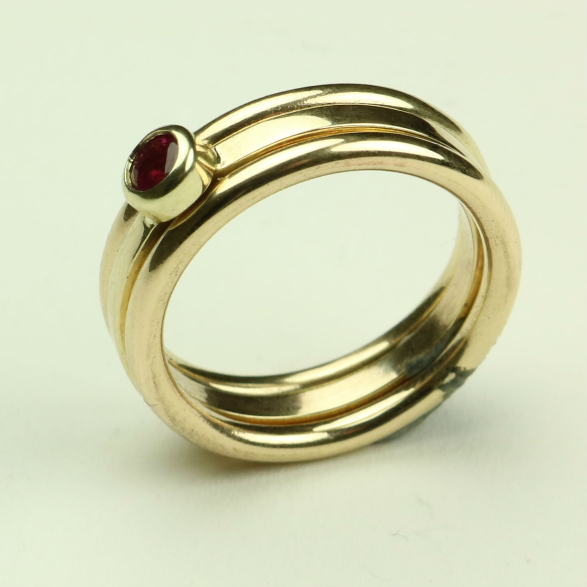 Gold Rings with Ruby