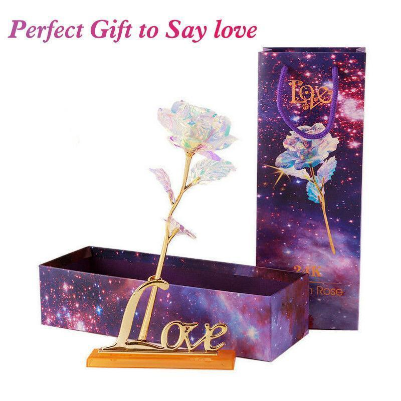 Hirundo Colorful Galaxy Rose with Love - Orangevitam Presents for Women