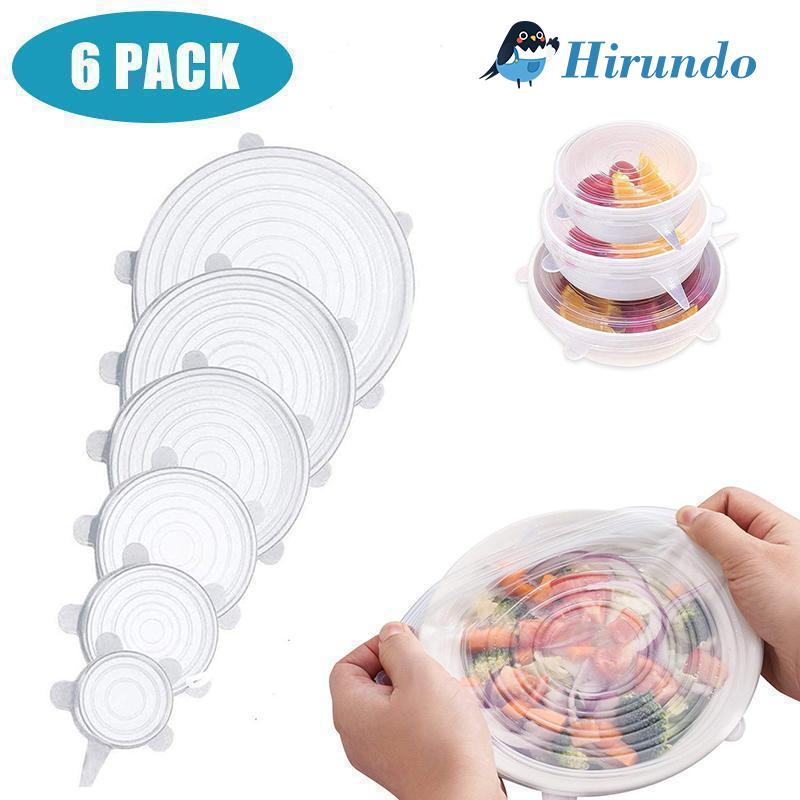 Hirundo® Stretchable food silicone lid, 6 pieces