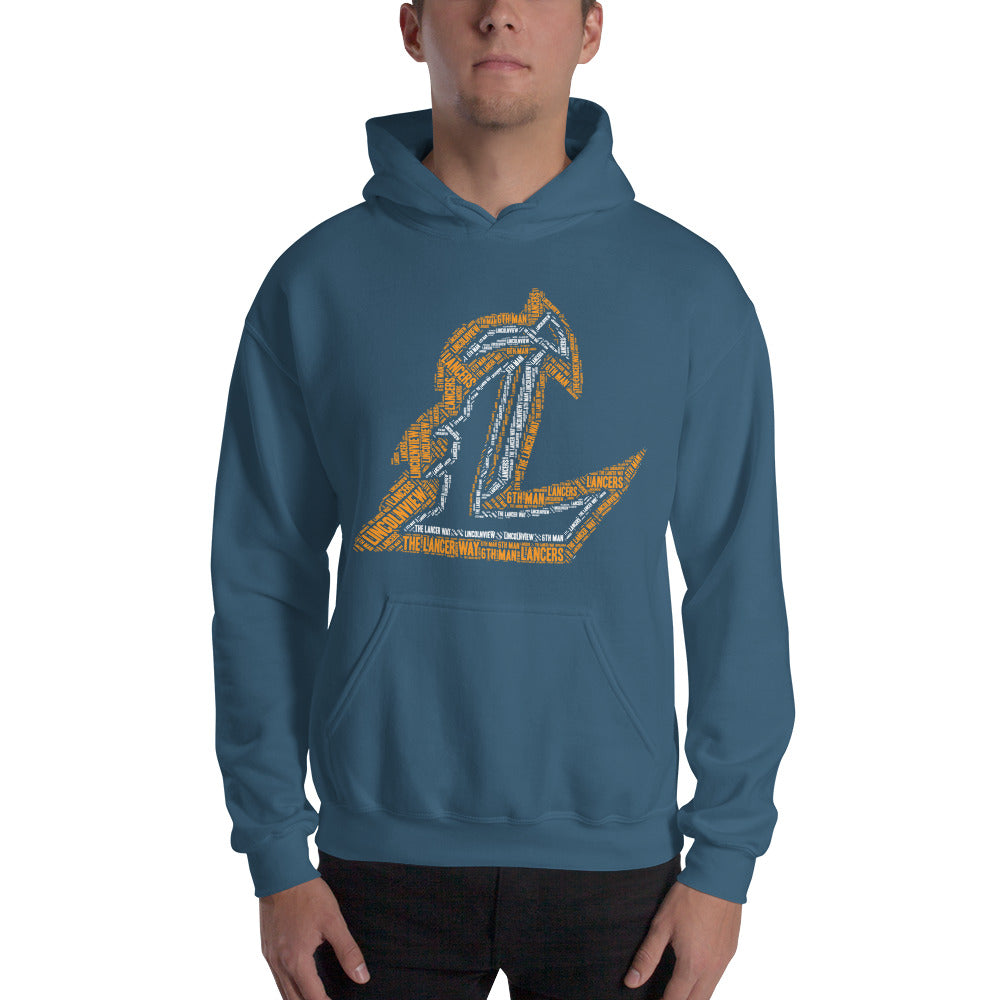 Lincolnview Lancer Wordle Hoodie Mosia