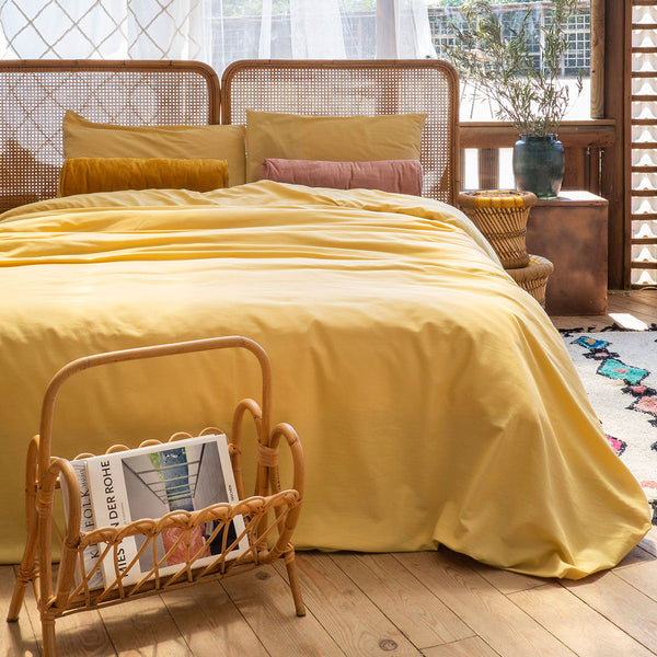 Duvet Cover + Pillow Lirio Mostaza