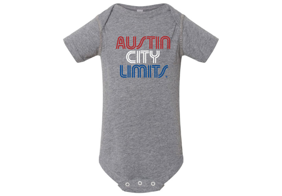 ACL Onesie Red/White/Blue Granite Heather Shirt