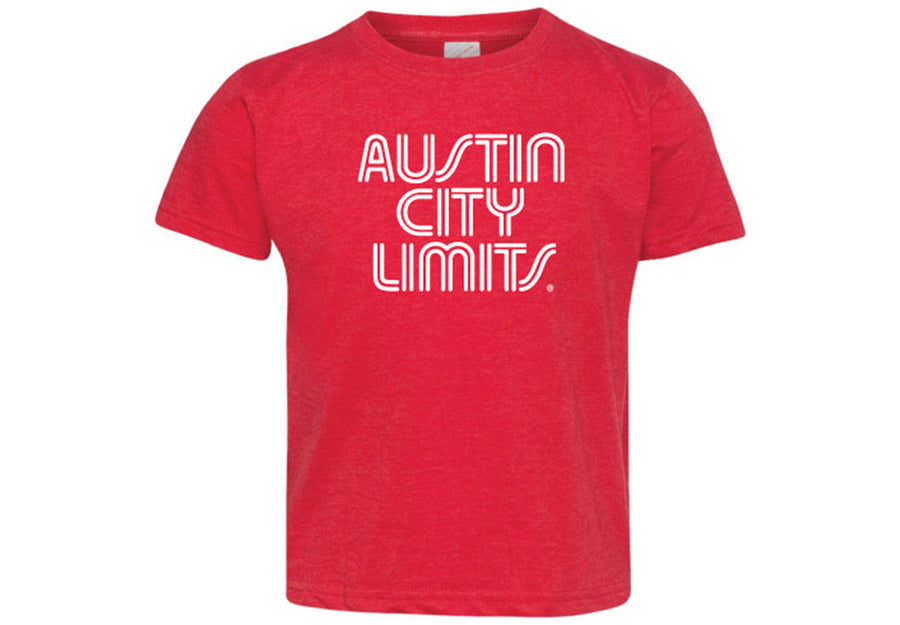 ACL Toddler White on Vint. Red Shirt