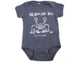 Hi How Are You Onesie White on Vint. Navy