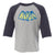 Austin Bat Vintage Baseball Raglan (toddler)