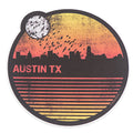 Retro Austin Skyline Vinyl Sticker
