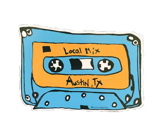 Local Mix Orange/Blue Vinyl Sticker