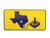 Atari Texas Yellow/Blue Vinyl Sticker