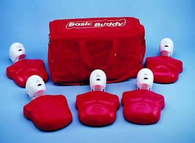 Five Manikins with 50 Replaceable Lungs/ Mouth protective Bags, Carry Bag