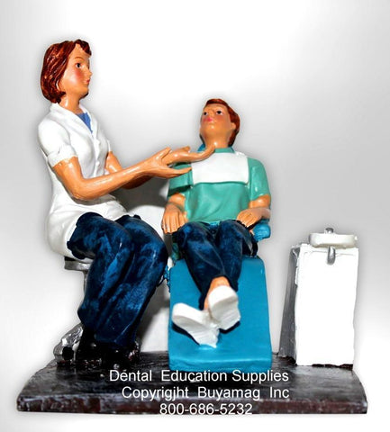 Dentist Gift Female With Man Patient Art Statue Office Decoration  Display