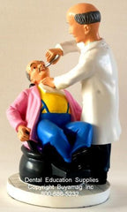 Dentist Gift's Male Patient Male Toothache Art Figurine in Office Decoration Display