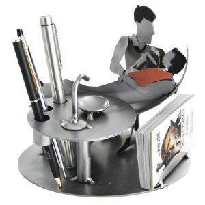 Dentist's Gifts Male At Work Art Office Decoration Pens & Business Card Holder