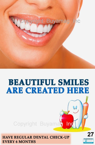 Dental Poster Beautiful Smiles Office Patient Education