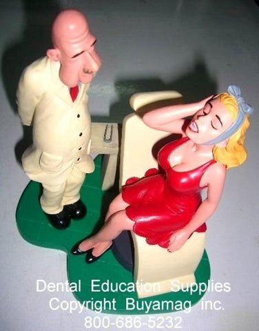 Dental Female Patient Toothache Art Figure In Office Decoration  Display