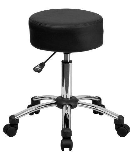 Dental Stool Medical Ergonomic Professional Rolling Stool Pneumatic Chrome Base