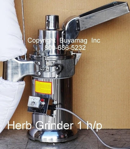 Herb Grinders Continuous Operation Large Capacity 1hp G-1XL