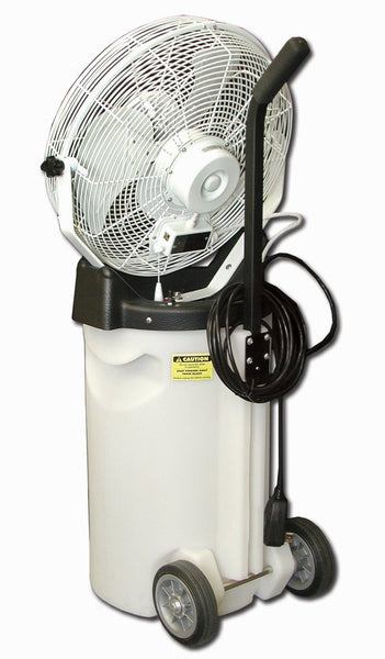"Air Humidification Misting Cooling Fan Portable on Cart Industrial Commercial 18"" fan"