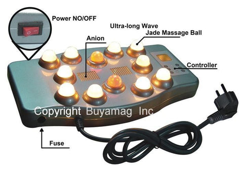 Far Infrared Heat Therapy 12 Jade Bulbs Vibrating Massager Portable New Generation