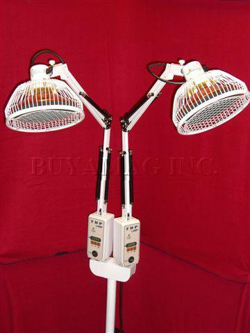 "FIM Infrared CQ-33 Lamp Deluxe, Digital Double Head 2 Heads Oversized 6.5"" Diameter Each, Original Manufactured"