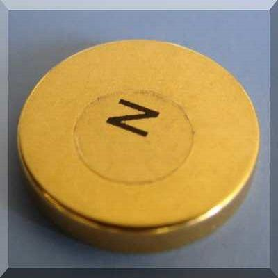 magnetic therapy magnets gold plated