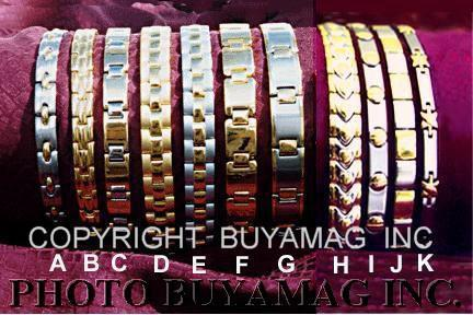Magnetic Bracelets Stainless Steel Link Style Deluxe
