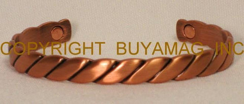 Magnetic Copper Bracelets & Two Magnets  Braided L or Gold