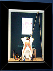 "Dental ""Periodontal Hygiene Work Site"" Education Showcase Art Décor"