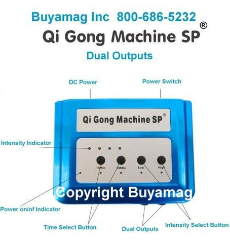 Digital Qi Gong Infrasonic Machine SP Third Generation New Improved Portable Model With 2 Two Outputs Compatible FDA 510K