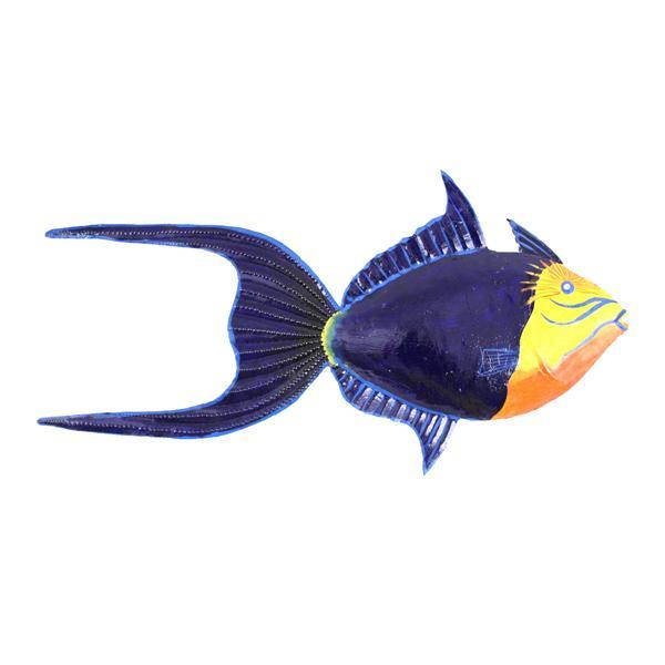 queen trigger fish wall mount marine home office decor