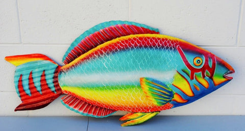 parrot fish ocean life decoration