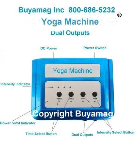 Digital Yoga Machine Third Generation Infrasonic Improved Model With 2 Two Outputs Compatible FDA 510K