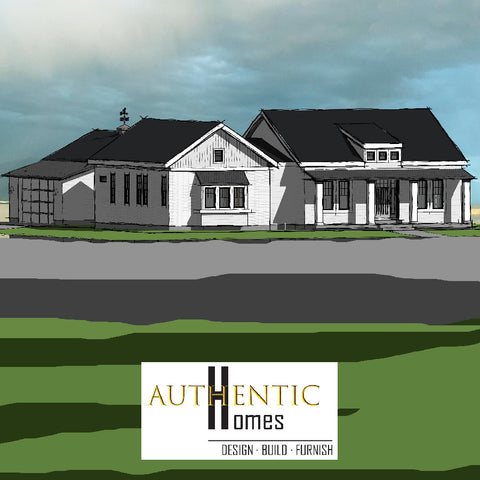 Farmhouse custom home plan. Authentic Homes in Utah.
