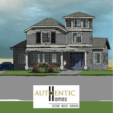 Load image into Gallery viewer, Cape Cod house plans. .50 a sq ft at Authentic Homes in Utah.