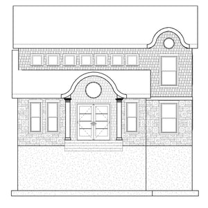 SHINGLE House Plan Elevation by Authentic Homes in Utah