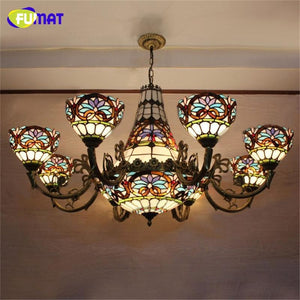 Baroque Chandelier European Vintage Art Glass - Lighting